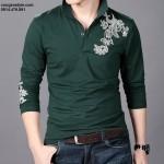 Áo thun nam dài tay thêu họa tiết cách điệu (2)