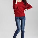 Áo thun nữ dài tay cánh doi, cách điệu cổ tay, chân áo bằng len (3)