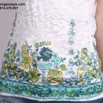 Áo thu nữ cộc tay ren, họa tiết chân áo trẻ trung (1)