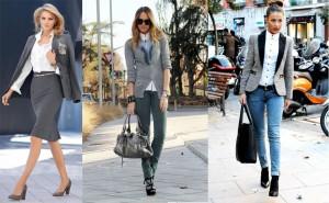 Thời trang công sở nữ màu xám (4)