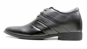 Giày tăng chiều cao Subow đen mờ, kẻ vân khỏe mạnh