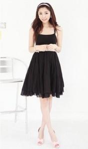 Váy xòe xinh xắn với thắt lưng bắt mắt