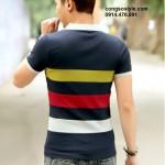 Áo thun nam cộc tay sắc màu giản dị (3)