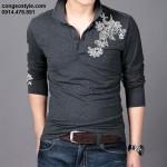 Áo thun nam dài tay thêu họa tiết cách điệu (1)