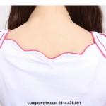 Áo thun nữ cộc tay thêu họa tiết vai cách điệu (1)