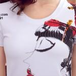 Áo thun nữ cộc tay in họa tiết đơn giản (3)