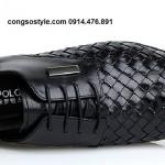 Giày tây Palm Polo cách điệu đan lát (2)