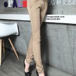 Quần kaki nữ cách điệu 2 đai (1)