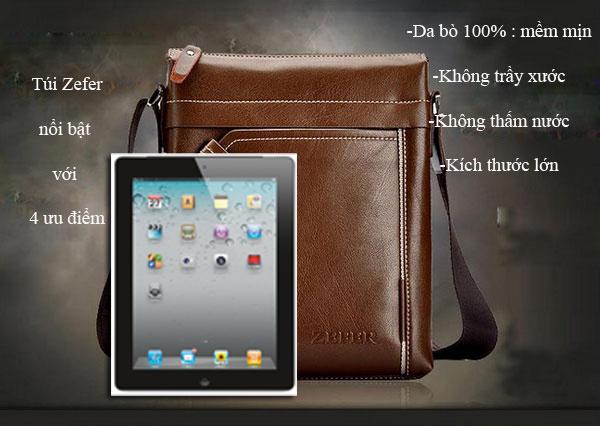 Túi xách nam cao cấp đựng iPad màu nâu