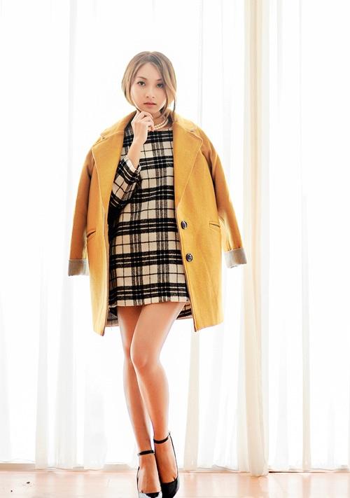 Váy công sở kẻ caro (4)