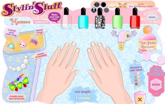 Game thời trang - tô vẽ móng tay