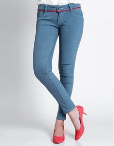 Quần Jeans Nữ Màu Xám Xanh Fashion