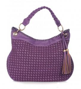 Túi xách nữ Labella màu tím quai ngắn