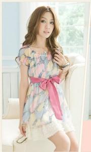 Váy xinh chất voan nữ tính