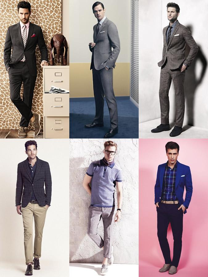 Nam công sở không nên mặc trang phục rộng quá. Hãy mặc vừa form!
